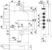 ЗВ Гранит(1.06.21.5.1.1)врезной,сувальдный,4 стержня д.18 мм.,задвижка ПОД ЗАКАЗ