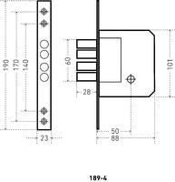 ЗВ 189-4 (4 кругл.ригеля) крест.ключ  Аллюр