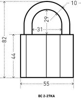 ВС 2-27КА тип 1 с одной секретностью Аллюр ПОД ЗАКАЗ