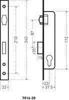 ЗВ 7016-20 СР хром узкопроф.с роликом с личиной Аллюр ПОД ЗАКАЗ