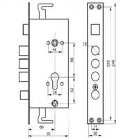 ЗВ А 14-4С L левый (корпус б/ручек,с кругл.риг.) для кит.дверей FERRE