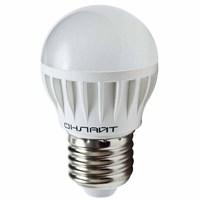 Светодиодная лампа ОНЛАЙТ 8 ВТ-4К-Е27 (аналог 75 ВТ,хол свет,станд.цок.)(шар)