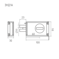 ЗНД1А(88400)защелка 2 ригеля Рязань